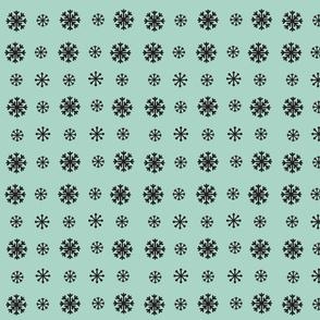 Snowflakes -seafoam onyx