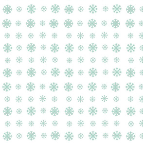 Snowflakes snow seafoam