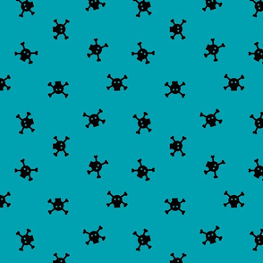 Bitty Skulls - Teal