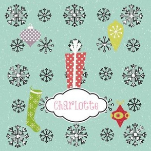 Vintage Snow Joy-Personalized pink