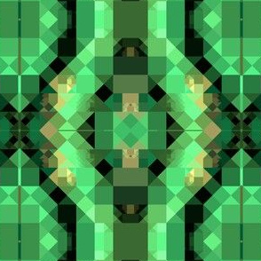 Green and Black Pixellated Pattern