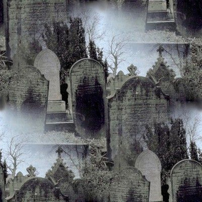 Haworth Graveyard in the Mist ~ Medium