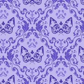 Grumpy Damask - Grape (Large)