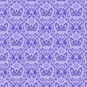 Grumpy Damask - Grape (Small)