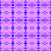Fish Circles Blue Violet