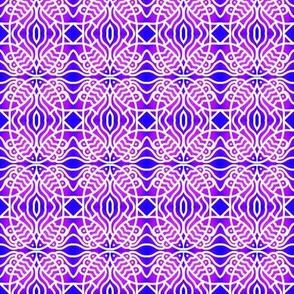 Fish Ovals Blue Violet