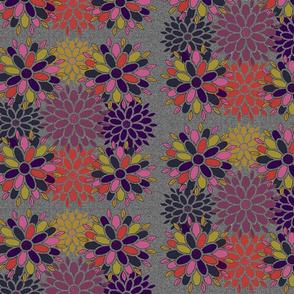 Geometric Flowers on Texture