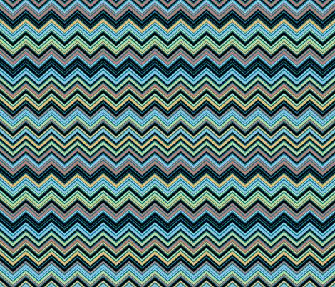 Multicolor Blue Chevron Pattern