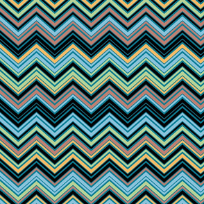 Multicolor Blue Chevron Pattern