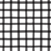 Black Gingham Watercolor