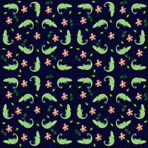 Lizards n flowers