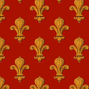 Fleur~de~Lys ~ Czarina on Turkey Red