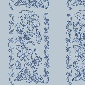 Blue-on-lt-grey- textured-floral-border
