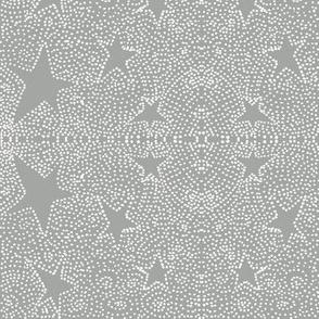 multitude of stars on grey
