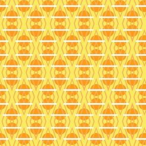 Diamante Circles in Marmalade