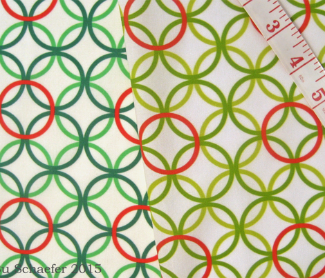Christmas lattice in red and greens by Su_G