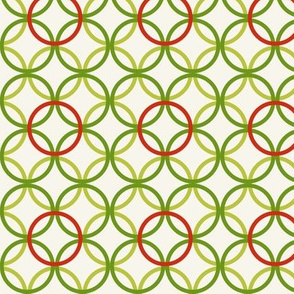 Festive spring lattice in red and greens by Su_G