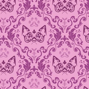 Grumpy Damask - Berry (Large)