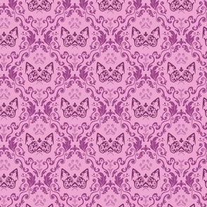 Grumpy Damask - Berry (Small)