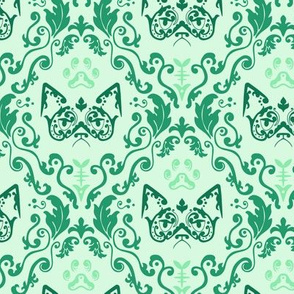 Grumpy Damask - Mint (Large)