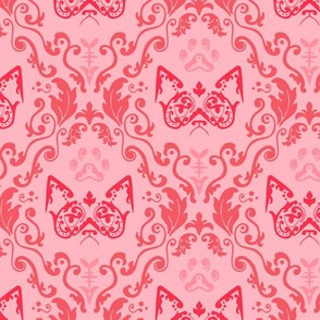 Grumpy Damask - Cherry (Large)
