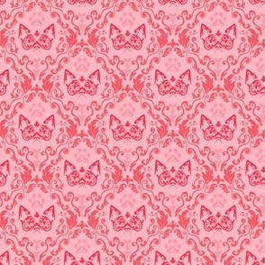Grumpy Damask - Cherry (Small)