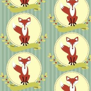 foxy fox  on stripe background