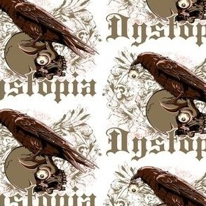 Dystopia death skull and bird