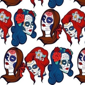 zombie goth rockabilly mexican skull girls