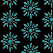 Splash Dot Mod - Teal & Black
