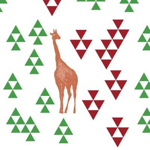 Giraffe with Upvote Downvote Arrows