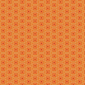 "Small Red & Orange 1/2"" squares"