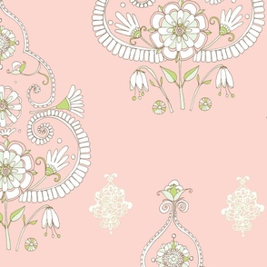 Floral Paisley Ice Cream Colours