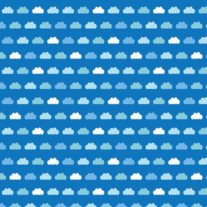 Clouds blue sky seamless pattern