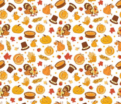 Vector Cornucopia Thanksgiving Pumpkin Turkey Corn