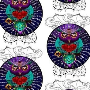 fat_grumpy_owl_artistic_flowers_and_flourishes