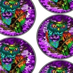 artistice_painted_multi_colored_owl_with_attitude