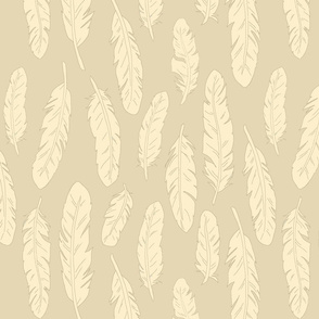 Feathers - large tan/cream