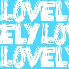 Lovely Blue Ice Scribbles