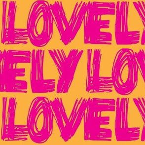 Lovely Pink Orange Scribbles