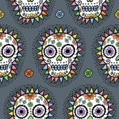 sugar skull hero grey