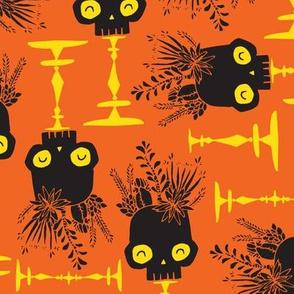 Scattered Skulls - pumpkin