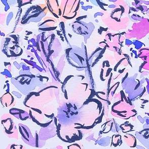 Brushed Floral Pattern