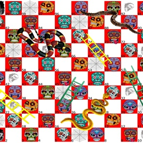 sugar skulls snakes and ladders 1 yard game board