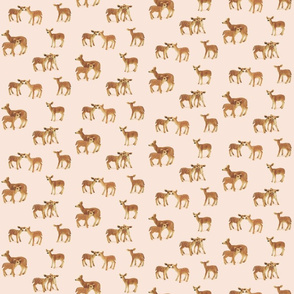 Fawn Nursery on Soft Peachy Pink