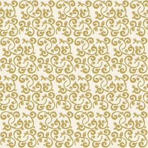 Faux Glitter Gold Floral Vines