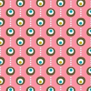 Pink Flamingo Dots