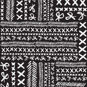 Stitch & Snip - Black and White