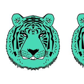 tiger // plush plushie cut and sew kids cut and sew pillow green tiger