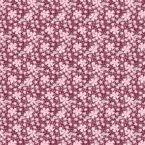 Maroon floral ditsy